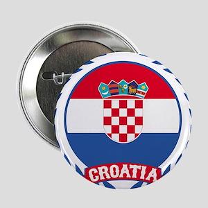 "Croatia Wreath 2.25"" Button"