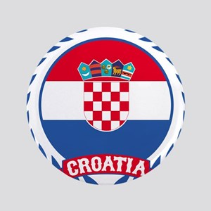 "Croatia Wreath 3.5"" Button"