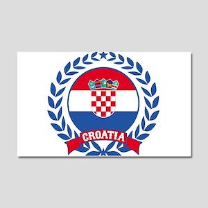 Croatia Wreath Car Magnet 20 x 12