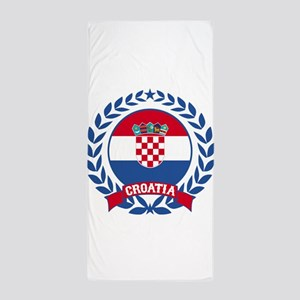 Croatia Wreath Beach Towel