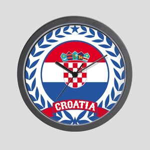 Croatia Wreath Wall Clock