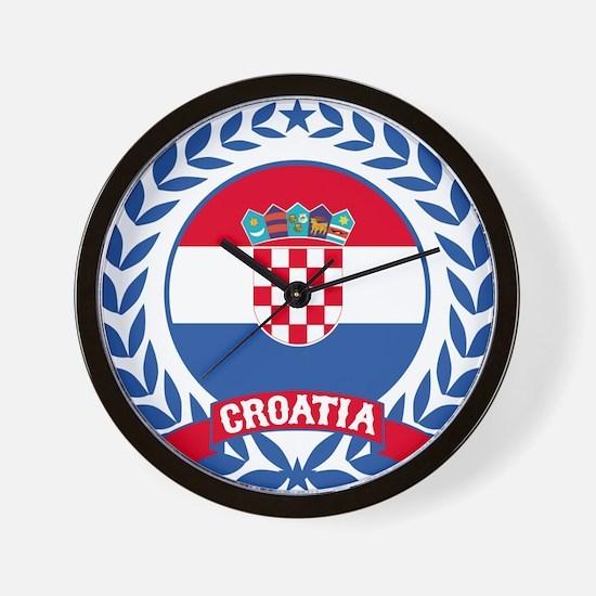 Croatia Wreath Wall Clock