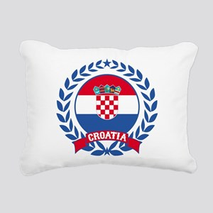 Croatia Wreath Rectangular Canvas Pillow