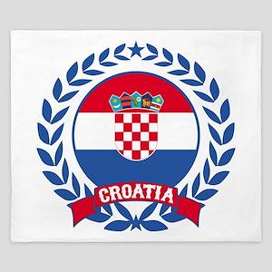 Croatia Wreath King Duvet