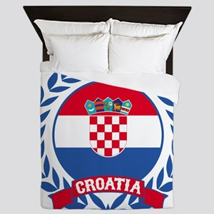 Croatia Wreath Queen Duvet