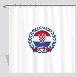 Croatia Wreath Shower Curtain
