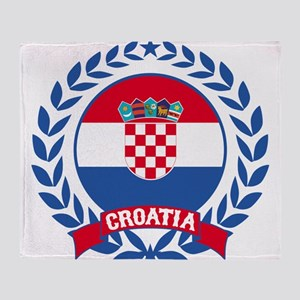 Croatia Wreath Throw Blanket