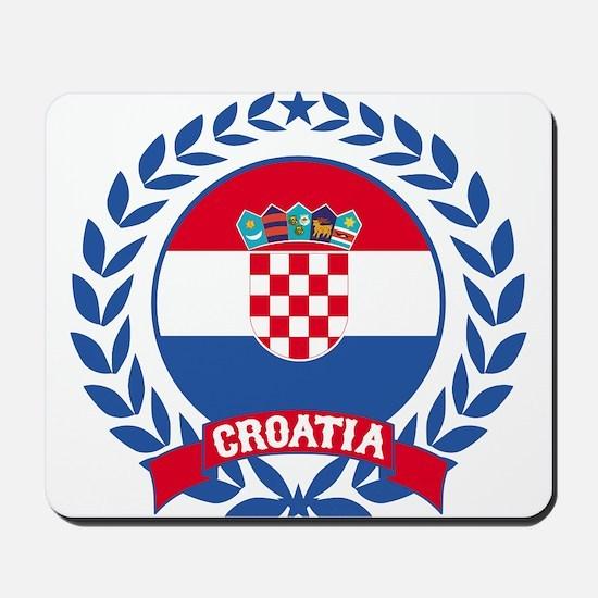 Croatia Wreath Mousepad