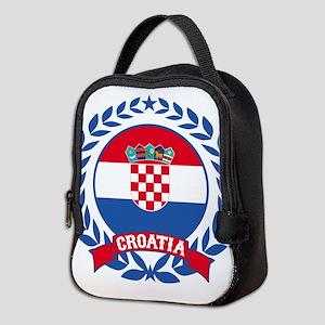 Croatia Wreath Neoprene Lunch Bag