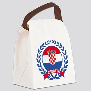 Croatia Wreath Canvas Lunch Bag