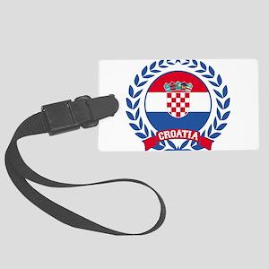 Croatia Wreath Luggage Tag