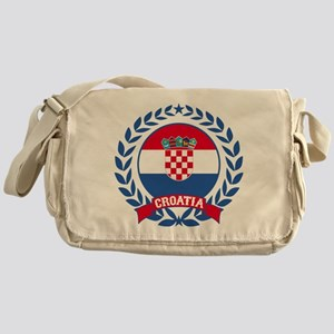 Croatia Wreath Messenger Bag