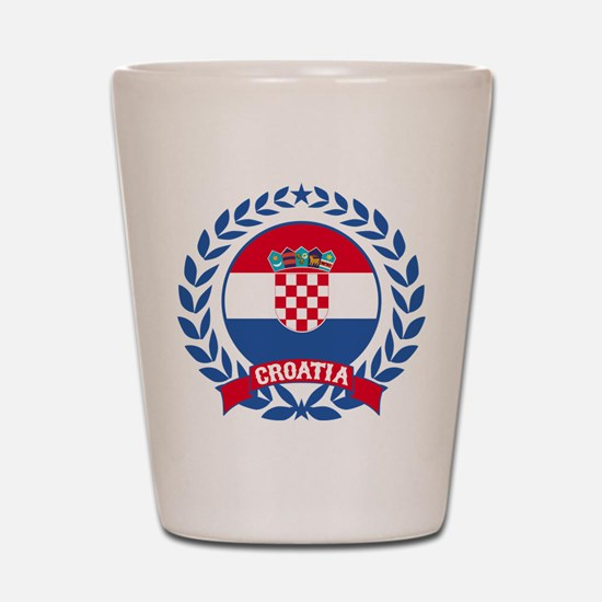 Croatia Wreath Shot Glass