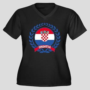 Croatia Wreath Plus Size T-Shirt