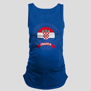 Croatia Wreath Maternity Tank Top
