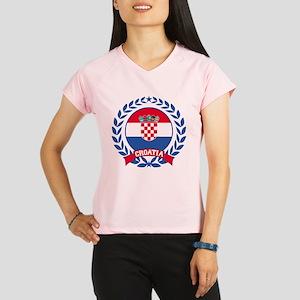 Croatia Wreath Performance Dry T-Shirt