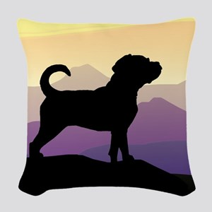 Puggle Purple Mountains Woven Throw Pillow
