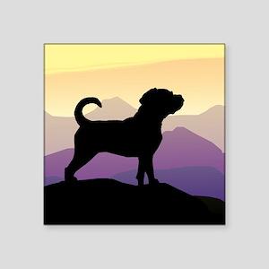 Puggle Purple Mountains Sticker