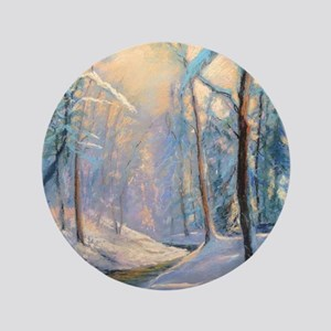 "Winter brook pastel 3.5"" Button"