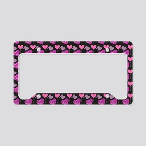 Heart of Hearts Love Pattern License Plate Holder