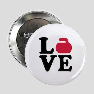 "Curling love stone 2.25"" Button"