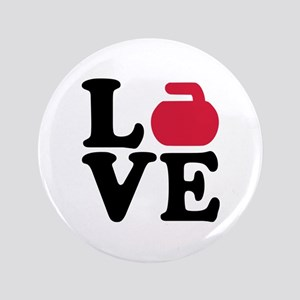 "Curling love stone 3.5"" Button"