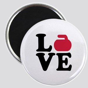 Curling love stone Magnet