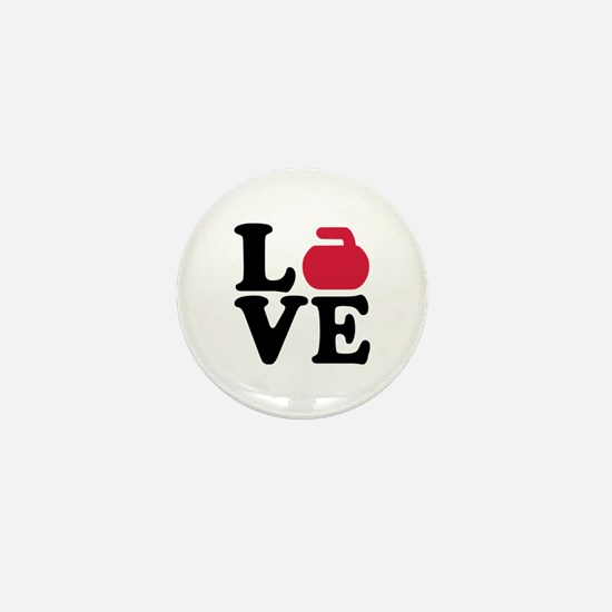 Curling love stone Mini Button
