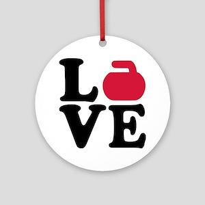 Curling love stone Ornament (Round)