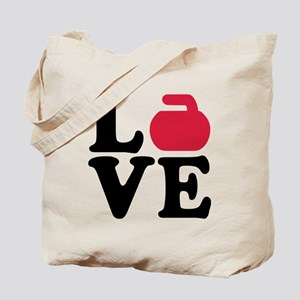 Curling love stone Tote Bag