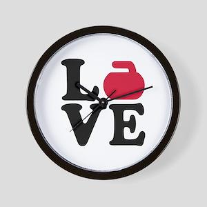 Curling love stone Wall Clock