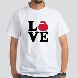 Curling love stone White T-Shirt