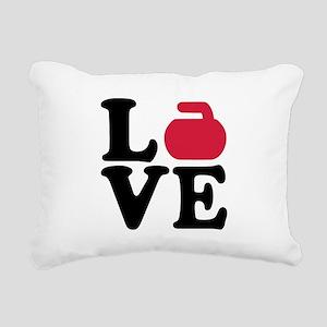 Curling love stone Rectangular Canvas Pillow
