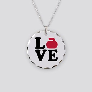 Curling love stone Necklace Circle Charm