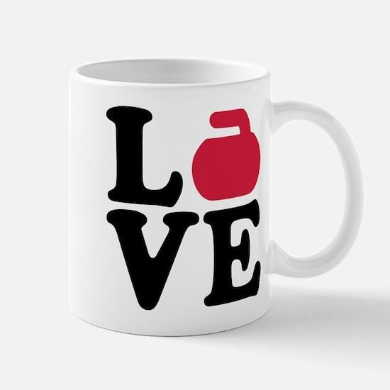 Curling love stone Mug