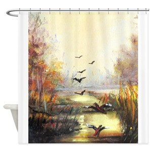 Bird Hunting Shower Curtains