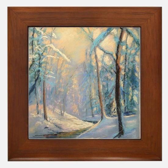 Winter brook pastel Framed Tile