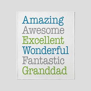 Granddad - Amazing Fantastic Throw Blanket