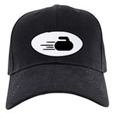 Curling Baseball Cap with Patch