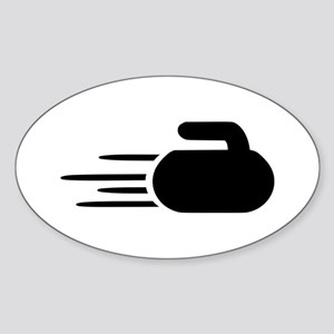 Curling stone Sticker (Oval)