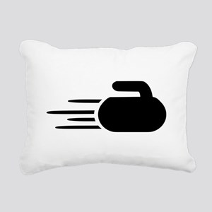 Curling stone Rectangular Canvas Pillow
