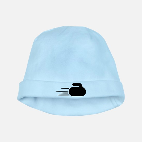 Curling stone baby hat