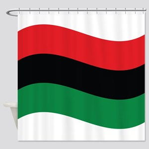 The Red Black And Green Flag Shower Curtain