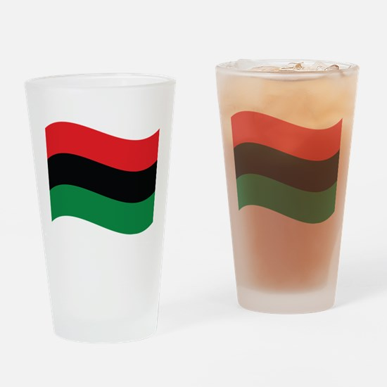 The Red, Black and Green Flag Drinking Glass