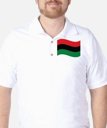 The Red, Black and Green Flag Golf Shirt