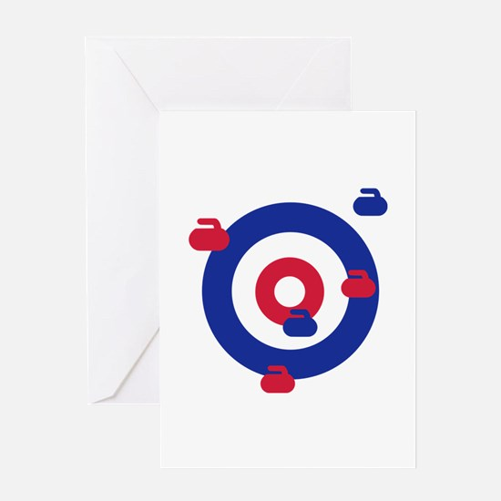 Curling field target Greeting Card