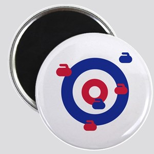 Curling field target Magnet