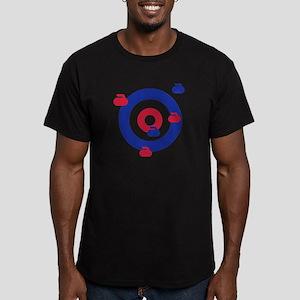 Curling field target Men's Fitted T-Shirt (dark)