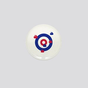 Curling field target Mini Button