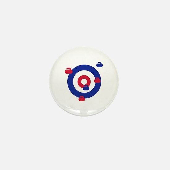 Curling field target Mini Button